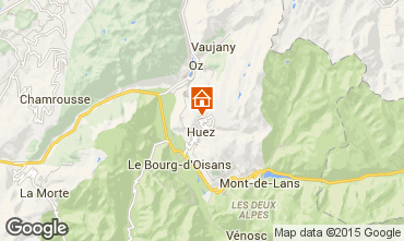 Kaart Alpe d'Huez Appartement 50