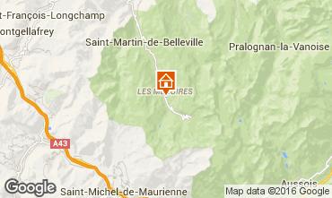 Kaart Les Menuires Appartement 1736