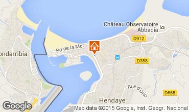 Kaart Hendaye Appartement 99251