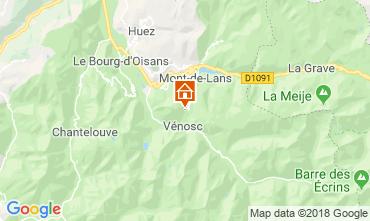Kaart Les 2 Alpes Chalet 116881