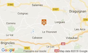 Kaart Le Thoronet Vakantiehuis 113716