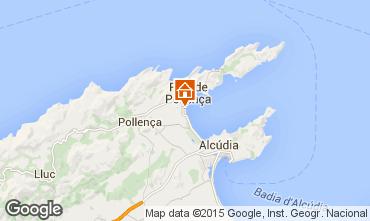 Kaart Puerto Pollensa Appartement 63957