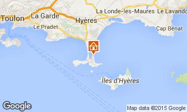 Kaart Hyères Studio 83506