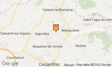 Kaart Vaison la Romaine Vakantiehuis 95444