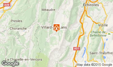 Kaart Villard de Lans - Corrençon en Vercors Studio 3651