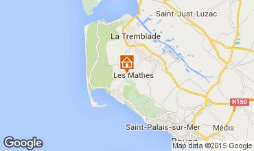 Kaart La Palmyre Stacaravan 80969