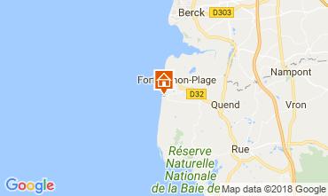 Kaart Quend Plage (strand) Stacaravan 107542