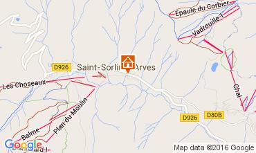Kaart Saint Sorlin d'Arves Appartement 105583
