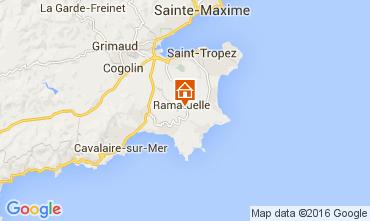 Kaart Ramatuelle Vakantiehuis 104481
