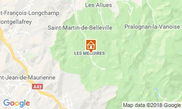 Kaart Les Menuires Studio 117573