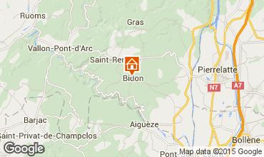 Kaart Vallon-Pont-D'Arc Huis 75616