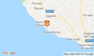 Kaart Ugento - Torre San Giovanni Villa 104522