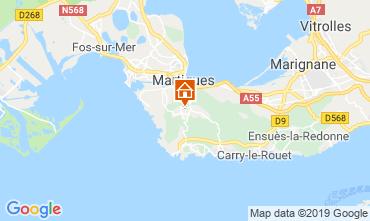Kaart Martigues Vakantiehuis 61577
