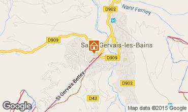 Kaart Saint Gervais Mont-Blanc Appartement 29903