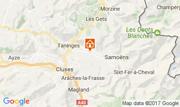 Kaart Morillon Grand Massif Chalet 74243