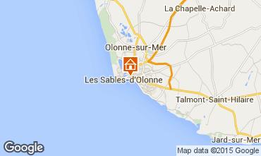Kaart Les  Sables d'Olonne Appartement 94815