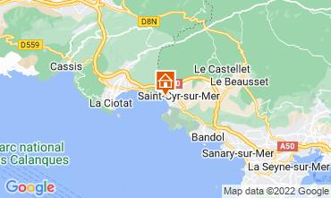 Kaart Saint Cyr sur Mer Appartement 97574