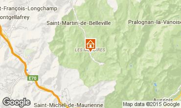 Kaart Les Menuires Studio 1708