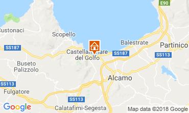 Kaart Castellammare del Golfo Villa 115689