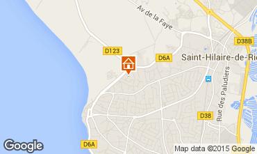 Kaart Saint Hilaire de Riez Appartement 10083