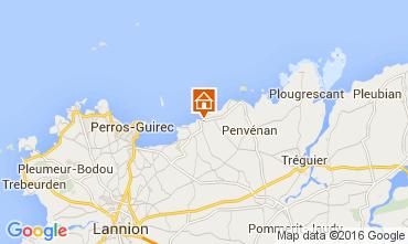 Kaart Perros-Guirec Appartement 102506