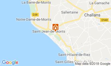 Kaart Saint Jean de Monts Stacaravan 116908