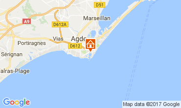 Kaart Cap d'Agde Villa 112310