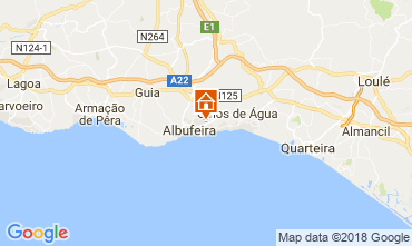 Kaart Albufeira Appartement 105384