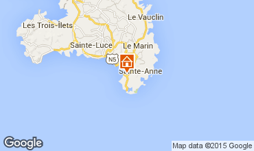Kaart Sainte Anne (Martinique) Appartement 58877