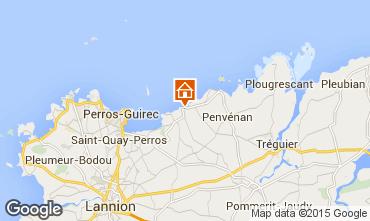 Kaart Perros-Guirec Appartement 79685