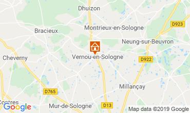 Kaart Chambord Vakantiehuis 119080
