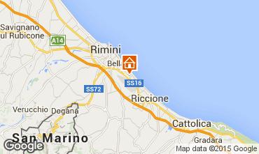 Kaart Rimini Appartement 21770