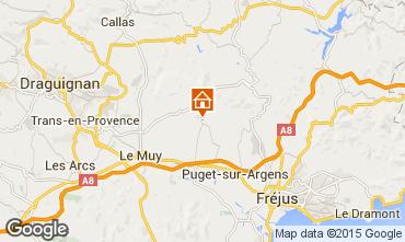 Kaart Roquebrune sur Argens Villa 95485