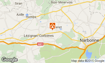 Kaart Carcassonne Vakantiehuis 38926