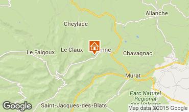 Kaart Le Lioran Vakantiehuis 58333