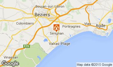 Kaart Sérignan Appartement 98785