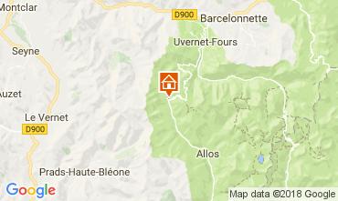 Kaart La Foux d'Allos Appartement 113414
