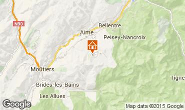 Kaart La Plagne Appartement 80286