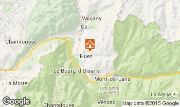 Kaart Alpe d'Huez Appartement 104