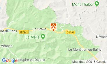 Kaart La Grave - La Meije Chalet 51065