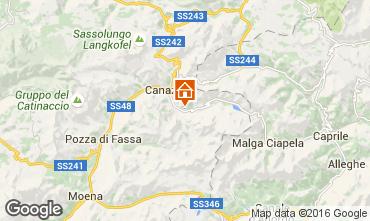 Kaart Canazei - Belvedere Appartement 45784