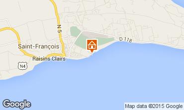 Kaart Saint Francois Appartement 68788