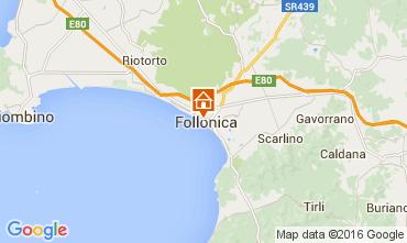 Kaart Follonica Appartement 85671