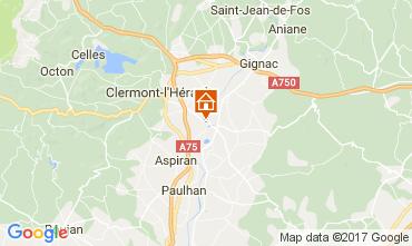 Kaart Clermont l'Hérault Villa 108631