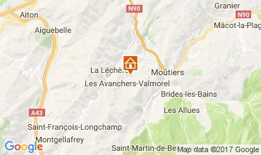 Kaart Valmorel Chalet 111883