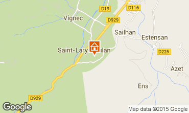 Kaart Saint Lary Soulan Appartement 4482