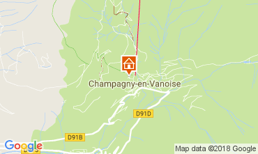 Kaart Champagny en Vanoise Studio 112836