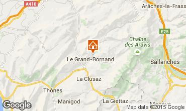 Kaart Le Grand Bornand Chalet 86535