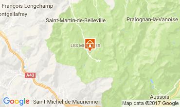 Kaart Les Menuires Studio 80892