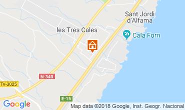 Kaart La Ametlla de Mar Villa 108717